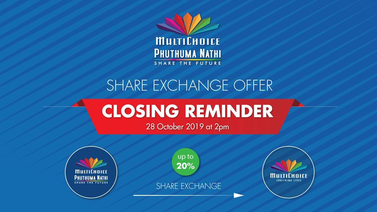 Reminder of Closing of Offer